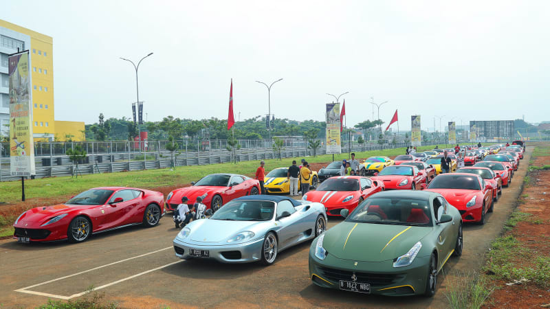 Ferrari's Exclusive Track Day at BSD Pop Up Circuit